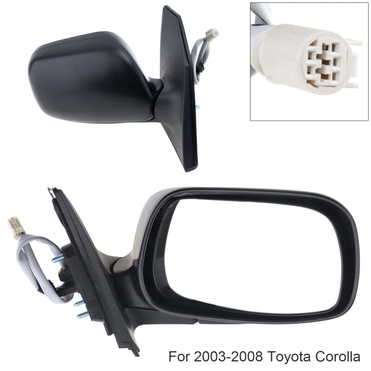 Side View Mirrors Power Left LH /& Right RH Pair Set of 2 for 98-02 Corolla