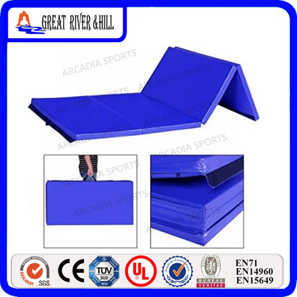 EPE Foam Core Folding Gym Mats Gymnastics Tumbling Exercise Mat 2.4mx1.2mx3cm gymnastics exercise workout flooring gym mat 2 4mx1 2mx3cm