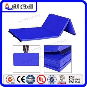EPE Foam Core Folding Gym Mats Gymnastics Tumbling Exercise Mat 2.4mx1.2mx3cm
