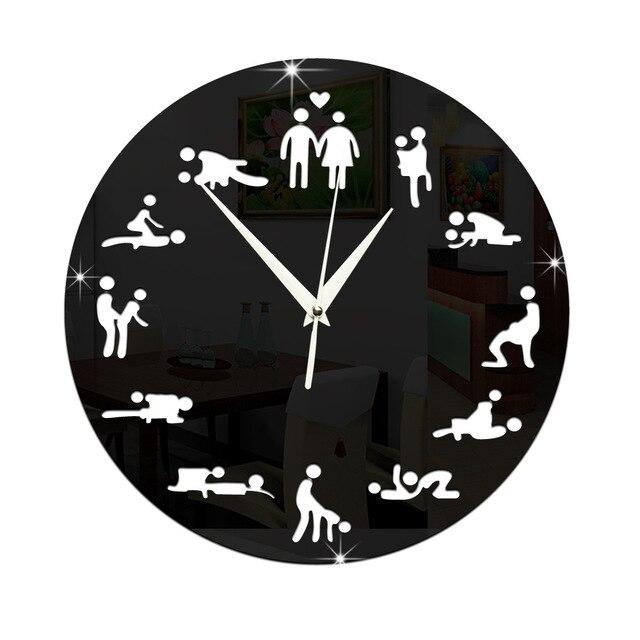 12 Position Patterns Funny Circular Bedroom Wall Clocks Cultural Arts Y Clock Novelty Clic Fashiont2