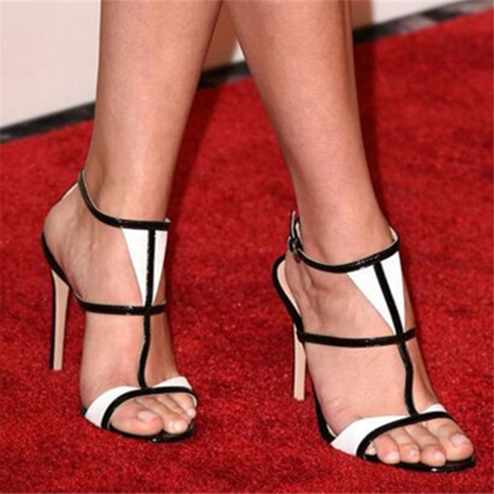 Big size 35-47 thin high heels brand luxury customized shoes woman party sexy prom women shoes summer sandals 2019Big size 35-47 thin high heels brand luxury customized shoes woman party sexy prom women shoes summer sandals 2019