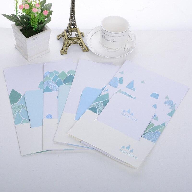 Office & School Supplies 9 Teile/satz 3 Umschläge 6 Blätter Brief Papier Kreative Entfernten Mountain Serie Umschlag Für Geschenk Korean Schreibwaren