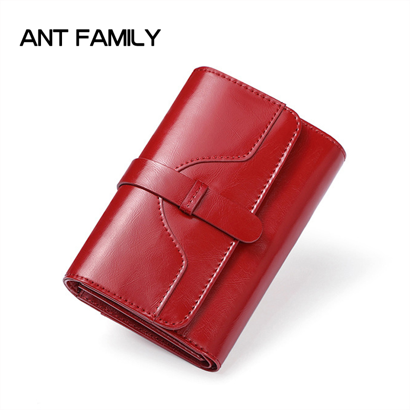 High Quality Genuine Leather Women Wallet Short Small Coin Purse Fashion Female Clutch Vintage 3 Fold Ladies Leather Wallet Rfid first layer cowhide genuine leather oil wax 3 fold wallets clutch vintage fashion ladies purse female famous brand high quality
