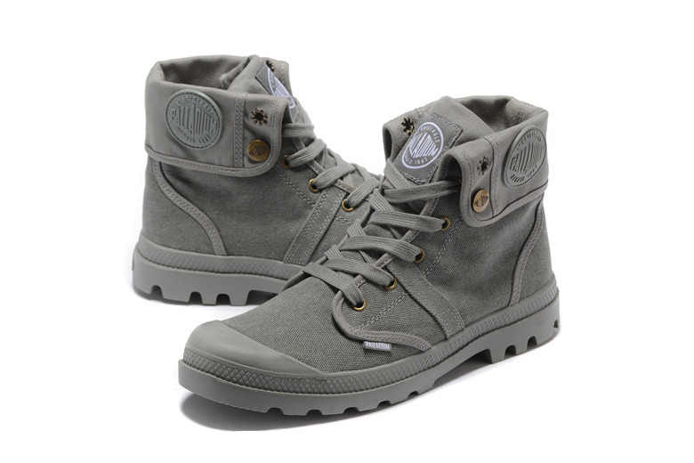 f52990049 ... PALLADIUM Pallabrouse All Grey Sneakers Men High-top Military Ankle  Boots Canvas Casual Shoes Men