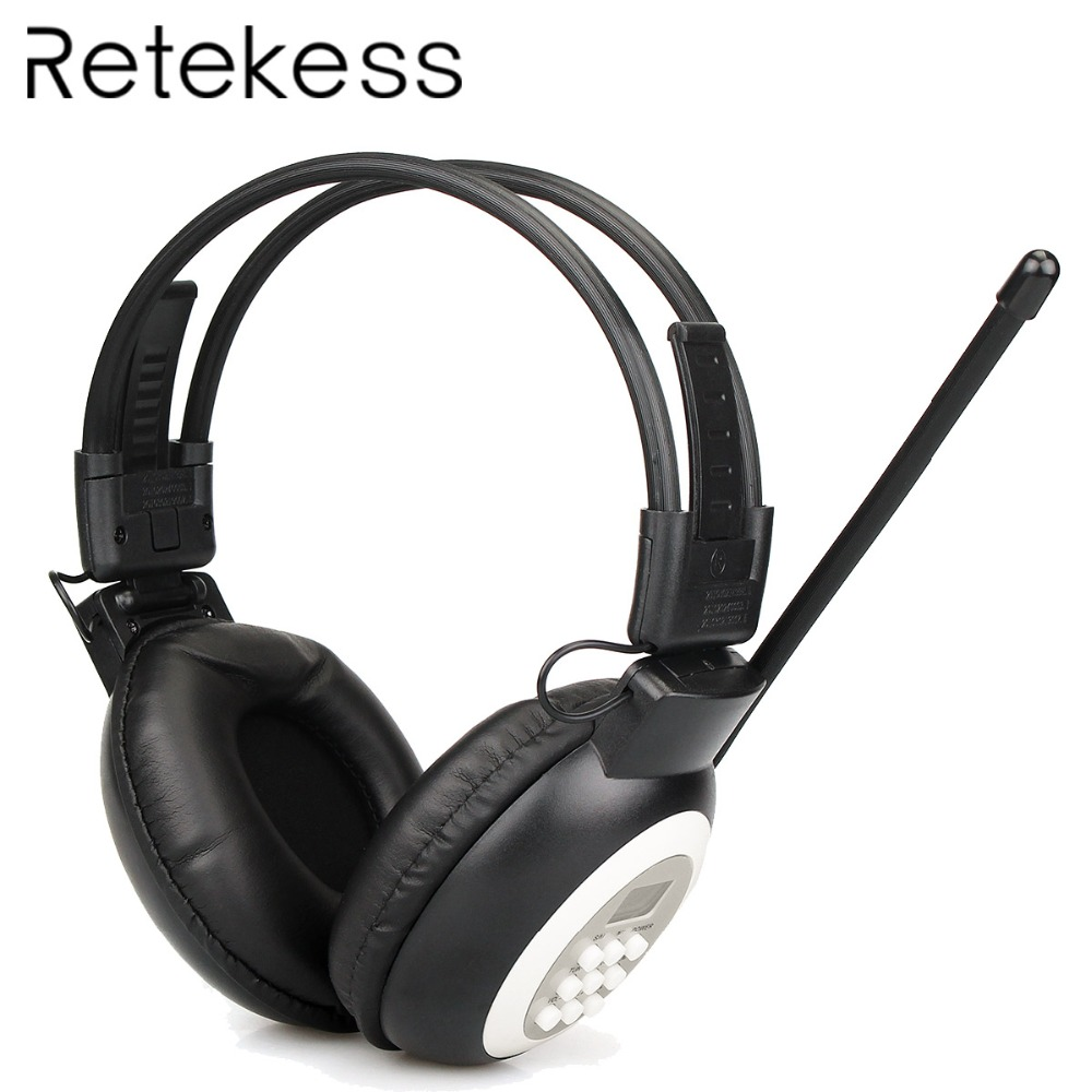 RETEKESS TR101 FM Headphone Radio Receiver Wireless Headset Radio Earphone Receiver For Conference Simultaneous Interpretation