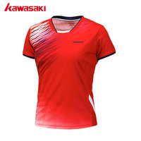 Kawasaki Badminton Shirts Tennis T shirt For Women Breathable Training Shirt Sportswear Women Short sleeved Shirt ST 172018