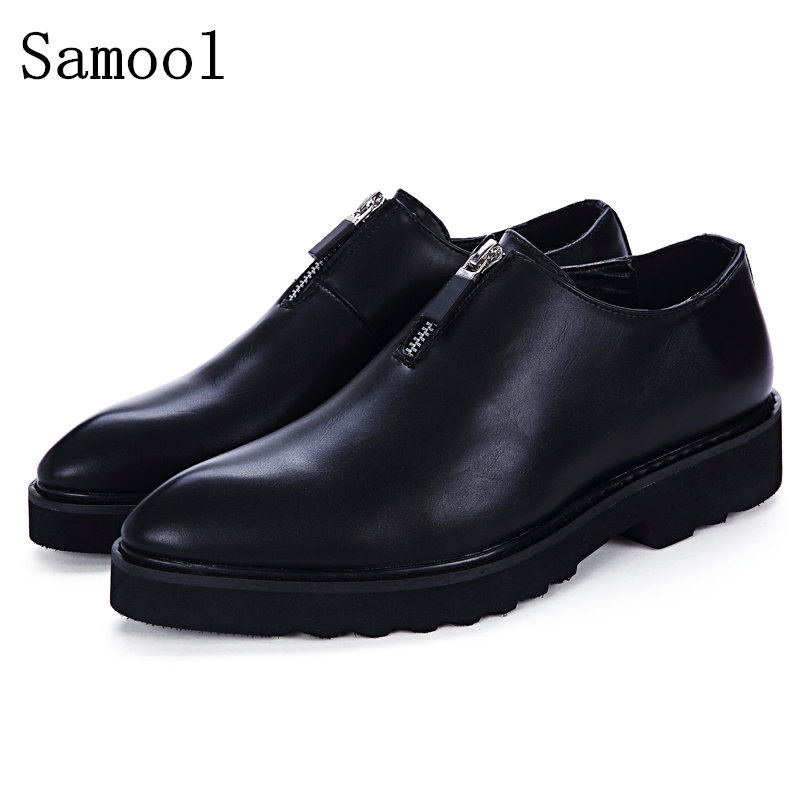 2017 Autumn Winter Genuine Leather Business Shoes Male Casual Shoes Slip On Lazy Men Flats Shoes Moccasins Men Loafers Shoes men shoes casual 2016 fashion handmade men shoes leather men loafers moccasins slip on men s flats male shoes