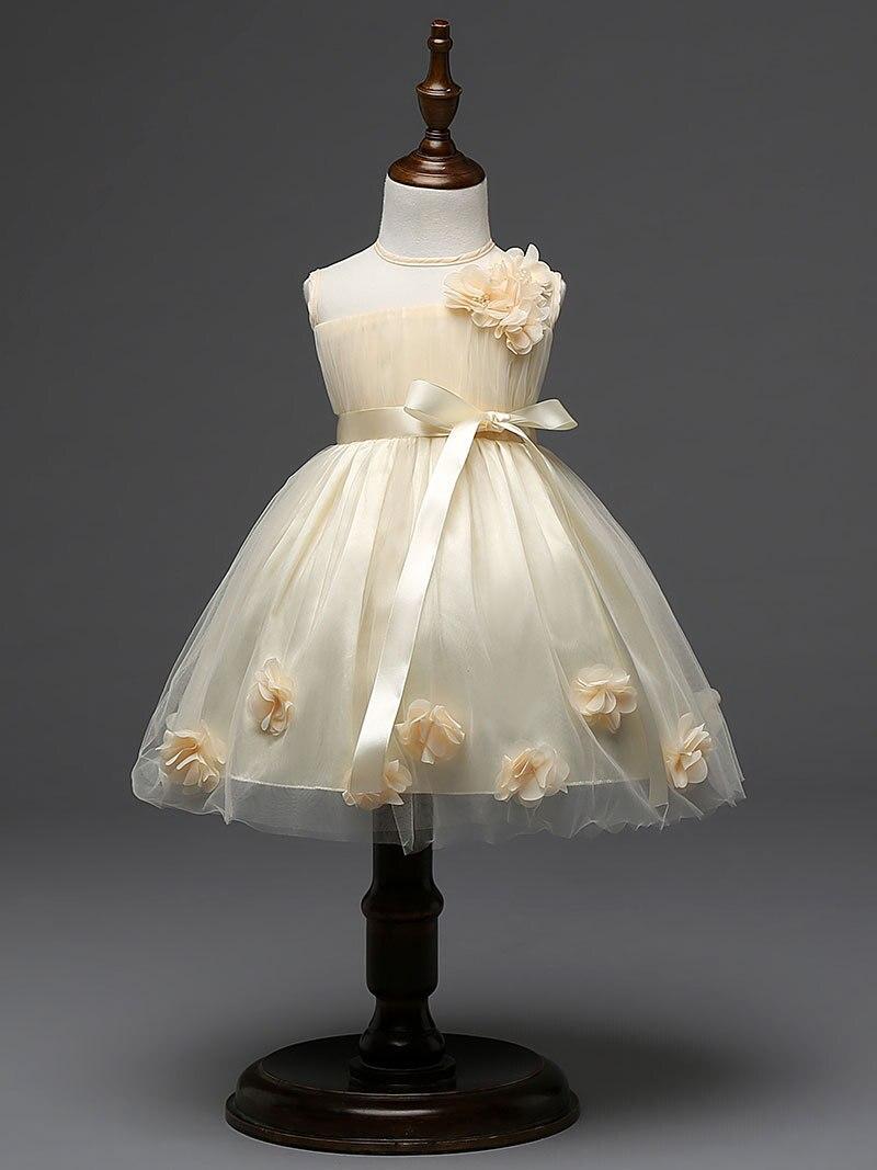 9fc6087d8c9 US $15.53 20% OFF|Fashion Princess Baby Girl Dresses Flower Party Girl  Dress Pretty Chic Flower Wedding Dresses summer children clothing dress-in  ...