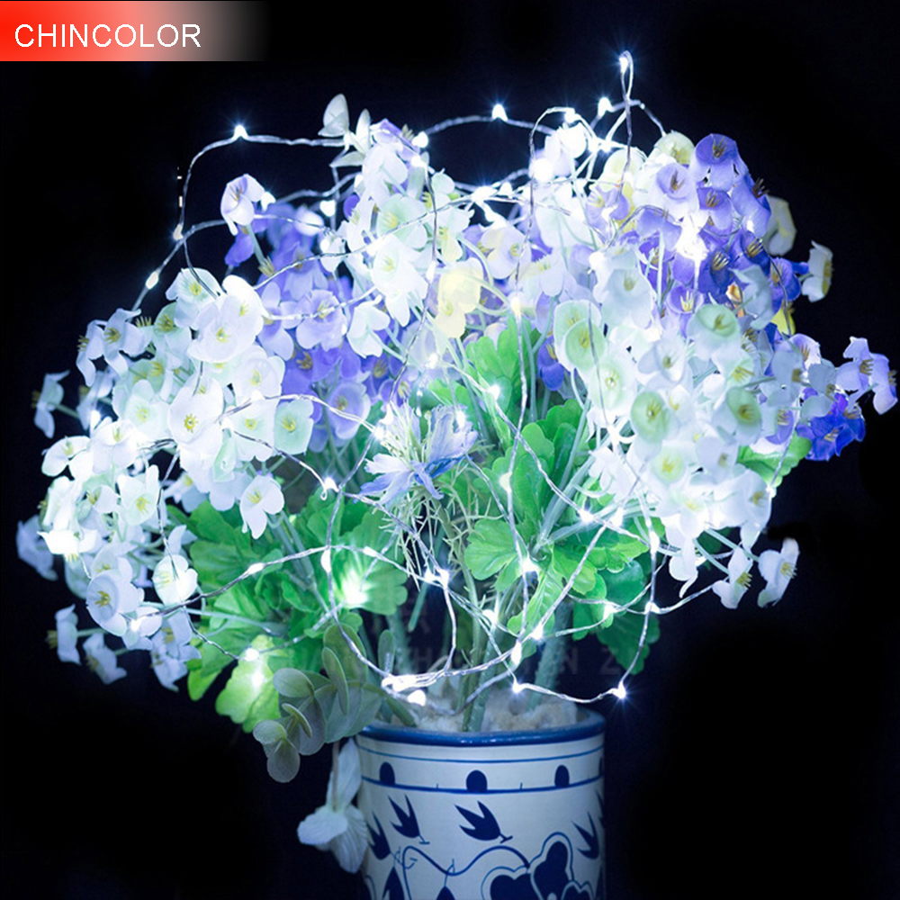 10pcs 20led Holiday lights 2M Candle diving light string waterproof Copper Wire Christmas led Lights fairy garland 3 color DA