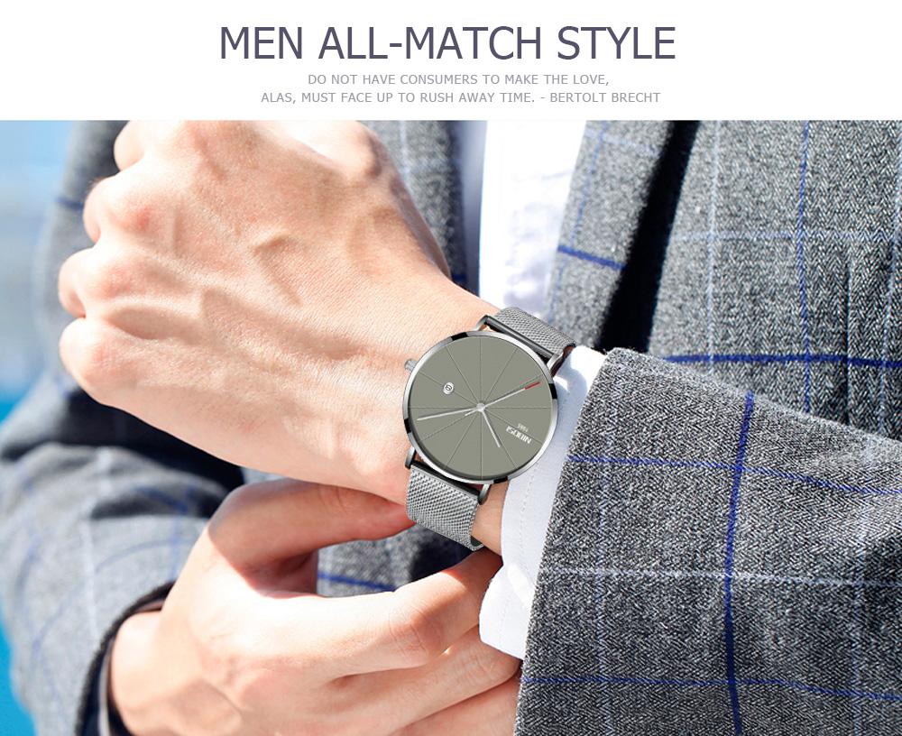 NIBOSI watch men black quartz wristwatches stainless steel mesh brand  watches men ultra thin quartz relogio masculino dourado (18)