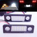 free shipping car-styling 18 SMD LED license plate light No error For Skoda Octavia 1Z 2008~