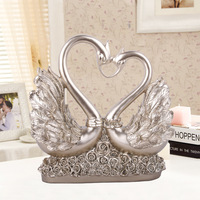 Resin Crafts Love Swan Furnishings Birthday Gifts Wedding Decoration home decor of Furniture Display showcase lovers statuette