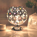 The Plum Blossom Aluminium Ball Table Lamp Bohemia Sitting Room Bedroom Study Crystal Desk Light Bedside