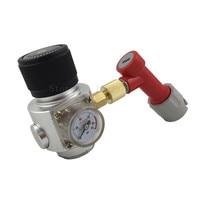 Homebrew Beer Kegging Mini CO2 Gas Regulator with Corny Keg Gas Pin Lock Disconnect