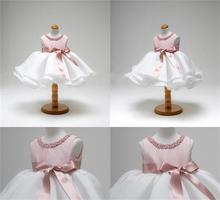 Платья для девочек на 1 год, платья на день рождения, детская одежда принцессы с бисером, платья на крестины, Крещение, Платья для новорожденн...