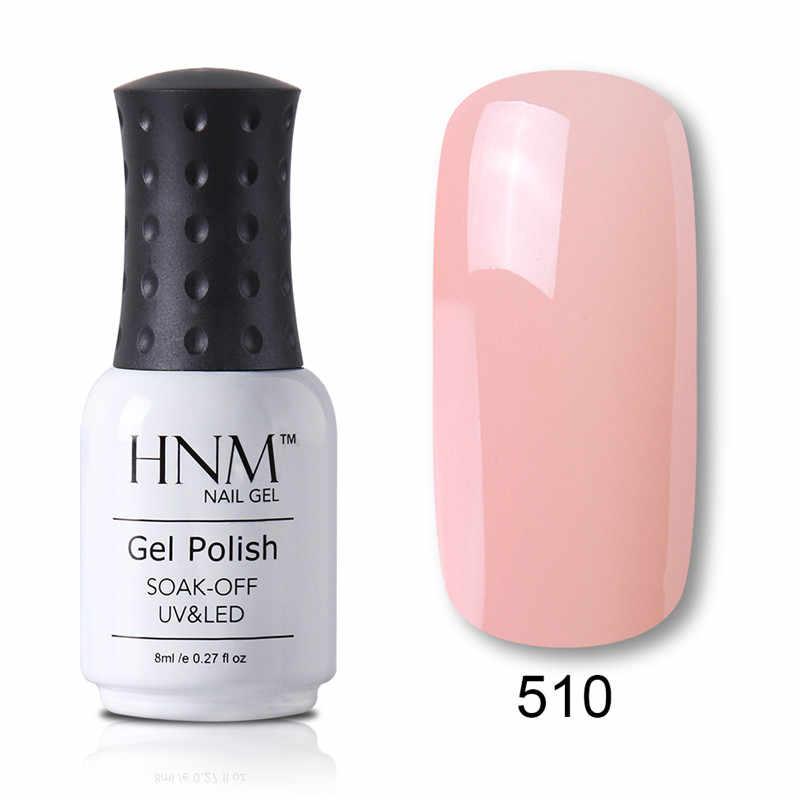 HNM 8ML 28 หยาบสีเล็บ HYBRID เคลือบเงา Lucky Lacquer GelLak Gelpolish กึ่งถาวรปั๊ม Primer เคลือบ Soak off