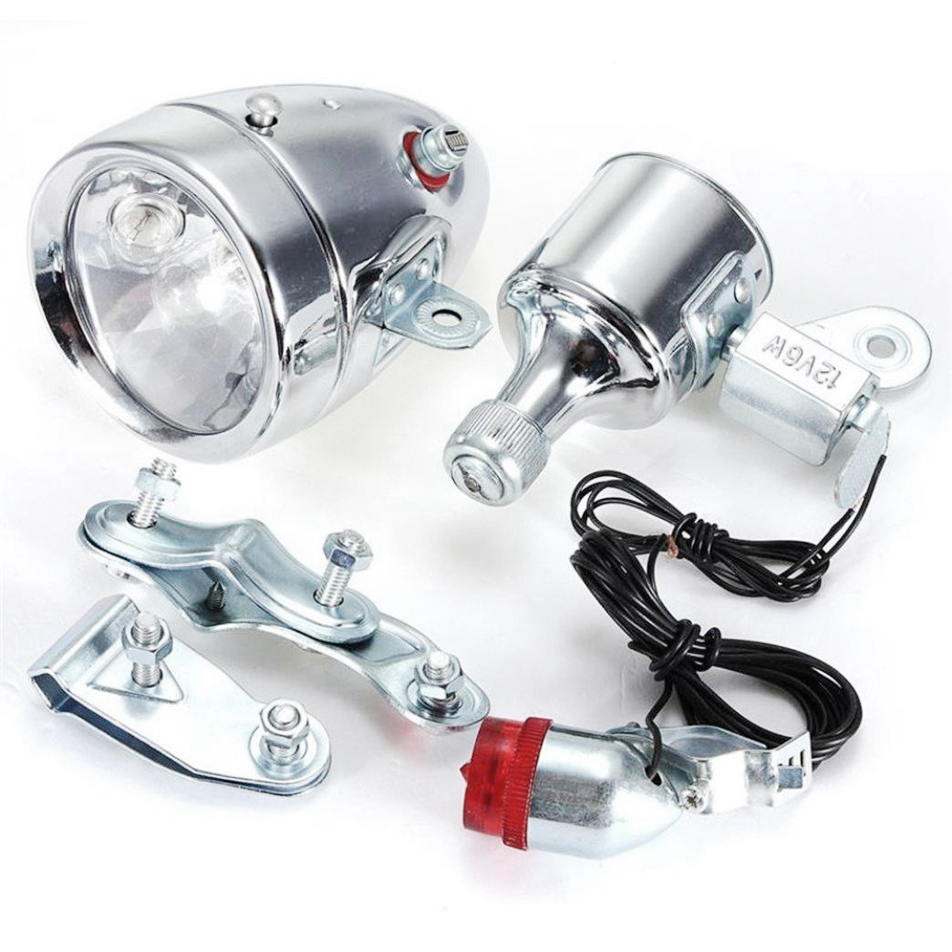 Cycling Dynamo Powered Headlight And Rearlight Bike Tail Light Bike Light Set Dynamo-Powered