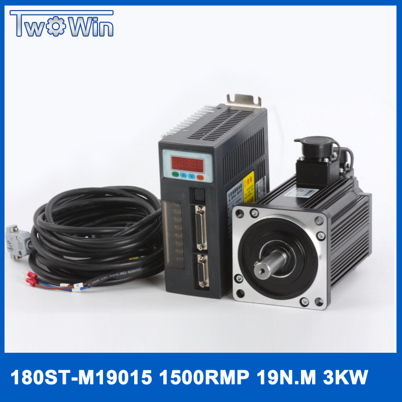 Ad alta potenza 3.0Kw kit servomotore 3000 w servo motor & 3000 w conducente servo drive