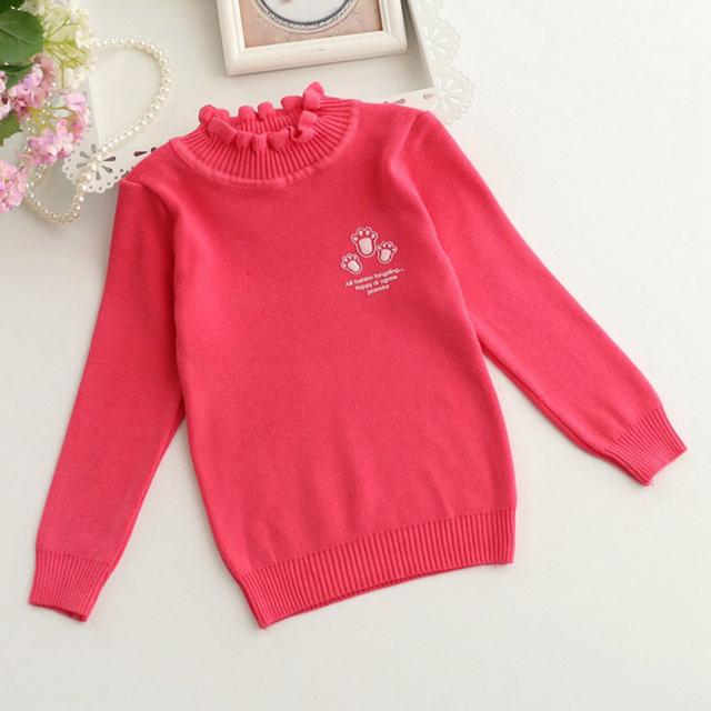 2016 Nuevos Niños Suéter Bebé Suéter de Las Muchachas Niños Otoño Invierno Primavera Suéter Colmenas de Los Cabritos del Suéter Del O-cuello