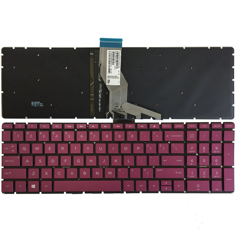 US laptop keyboard for HP 15-BS 250 G6 255 G6 256 G6(only keyboard) Fuchsia English keyboard with Backlit new us keyboard for acer aspire vn7 793g vx5 591g vx5 591g 52wn us laptop keyboard with backlit