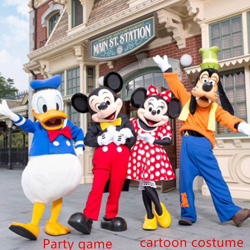 Disney Mickey Mouse Clubhouse dessin animé Performance marche Costume COSPLAY fête jeu Anime Performance accessoires