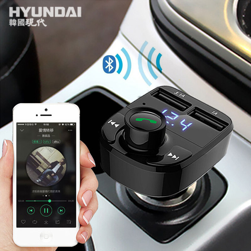 US $21 0 |Multi function Bluetooth Connect Phone Answer Tools Dual USB Car  Charger U Disk T F Card Port Play music Car styling Accessories-in