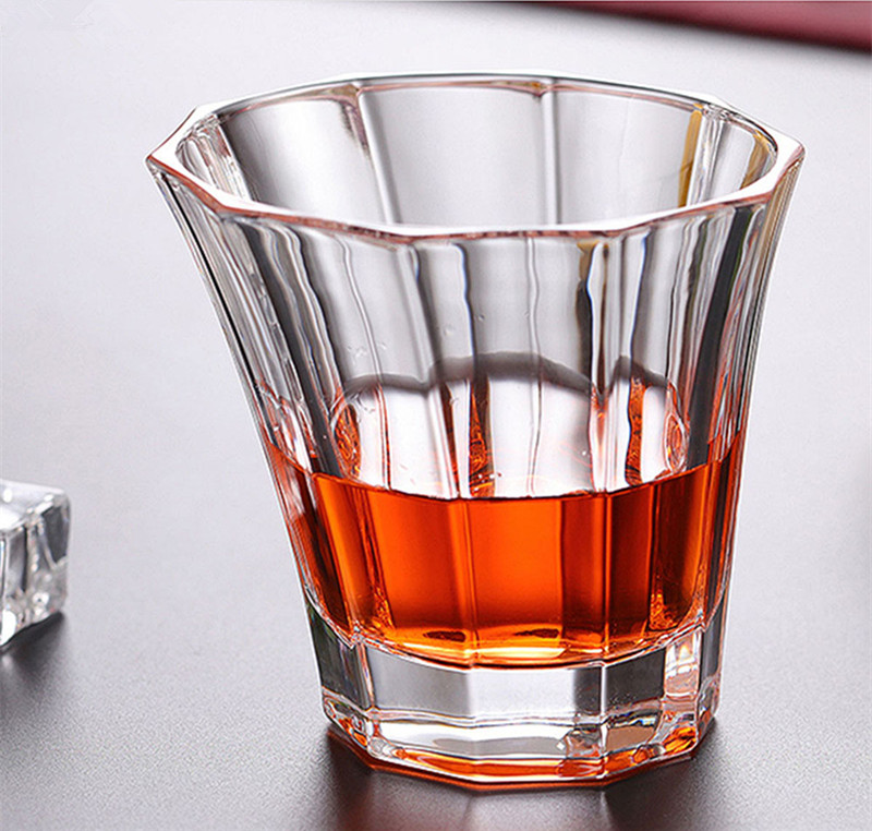Image 4 - Brand Wine Glass Lead free Heat Resistant Transparent Crystal Beer Whiskey Brandy Vodka Cup Multi Pattern Drinkware Bar GiftsTransparent   -