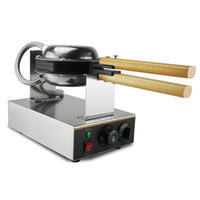 220V 110V Commercial Electric Chinese Hong Kong Eggettes Puff Cake Waffle Iron Maker Machine Bubble Egg