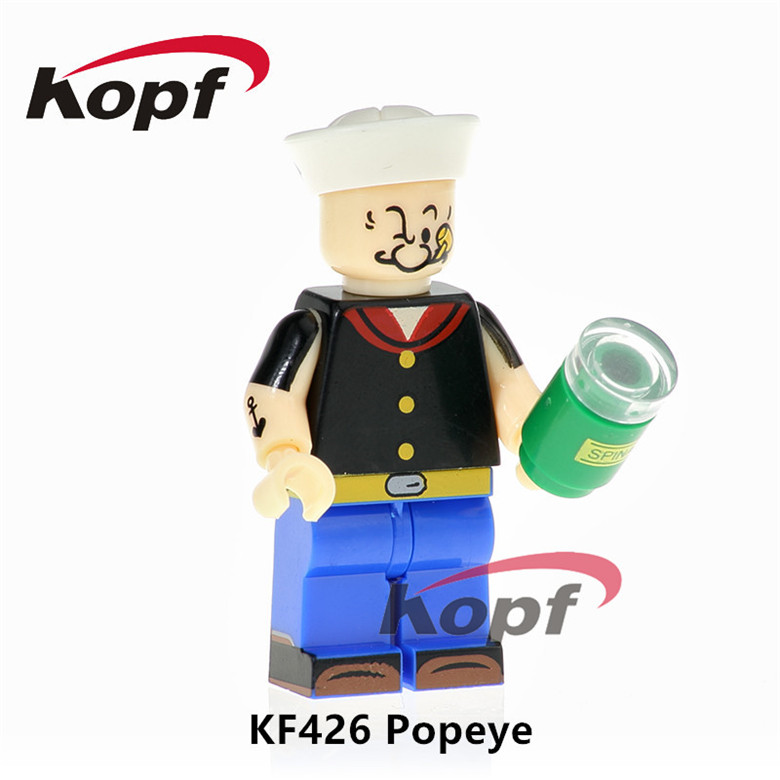 Building Blocks Single Sale Popeye Freddie Mercury Grunge Icon Mr.Bean Scarface Super Heroes Bricks Children Gift Toys KF426 ...