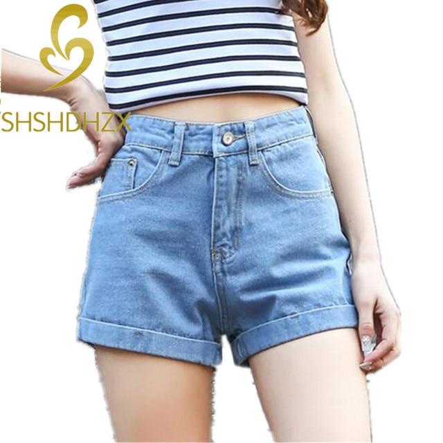 6873d97205 New Women high waist Retro denim shorts crimping big yards wide leg Hot  shorts