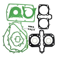 LOPOR For Kawasaki KLE500 1985 1995 Engine Gasket Kit Cylinder Top End Crankcase Stator Clutch Cover Exhaust Gaskets Seals Set