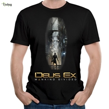 Deus Ex  Mankind Divided T Shirt Awesome Game 3d Print Homme Tee Round Collar Plus Size Camiseta