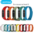 Lemse Smart Wristband Band Strap For Xiaomi Mi Band 2 Smart Double - colors Bracelet Miband 2 Replacement Silicone Wrist Strap