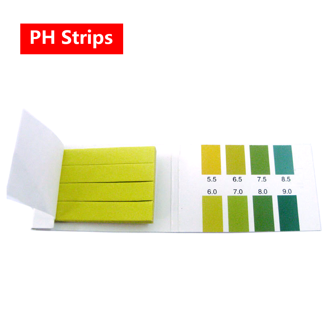Precision PH Test Strips Short Range 5.5-9.0 Indicator Paper Tester 100 Strips B
