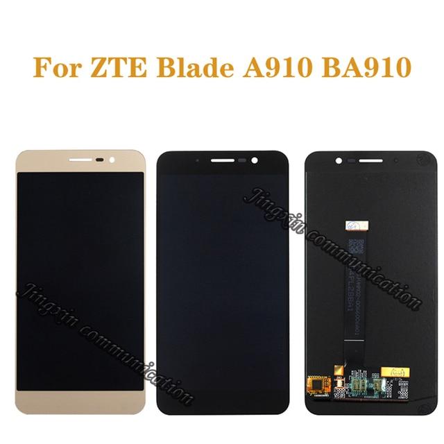 """5.5 """"العرض الأصلي ل ZTE بليد A910 BA910 TD LTE LCD + محول الأرقام بشاشة تعمل بلمس مكون شاشة الهاتف المحمول إصلاح أجزاء"""
