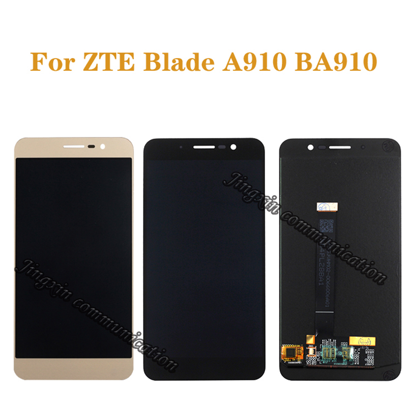"5.5"" original display for ZTE Blade A910 BA910 TD LTE LCD + touch screen digitizer component mobile phone screen repair parts"