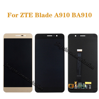 """5.5"""" original display for ZTE Blade A910 BA910 TD LTE LCD + touch screen digitizer component mobile phone screen repair parts"""