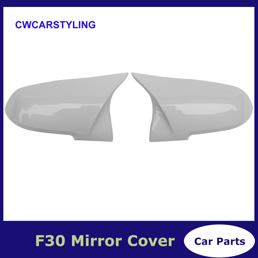 For BMW F30 White Mirror Cover 1 2 3 4 X1 Series F20 F21 F32 F36 F33 Rear Side View Mirror Cover Car Replacement style 2012 - UPFor BMW F30 White Mirror Cover 1 2 3 4 X1 Series F20 F21 F32 F36 F33 Rear Side View Mirror Cover Car Replacement style 2012 - UP