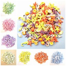 100pcs Mixed Color 9-15mm Acrylic Sea Animal Series Spacer Beads For Jewelry Making child DIY Bracelet Necklace Accessories