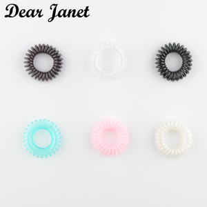 3.5 cm Cute Candy Color telephone line hair gum styling tools