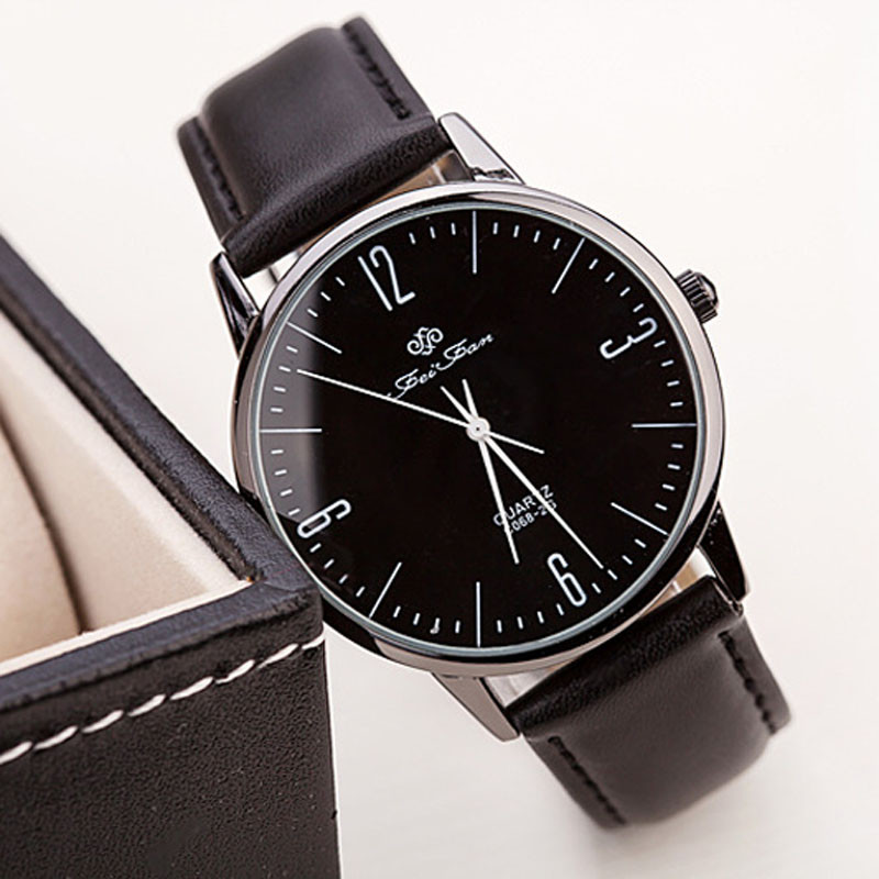 2017 Fashion Women Quartz Ultra-thin Man Women Casual Wrist Watch Leather Quartz Watch b ...
