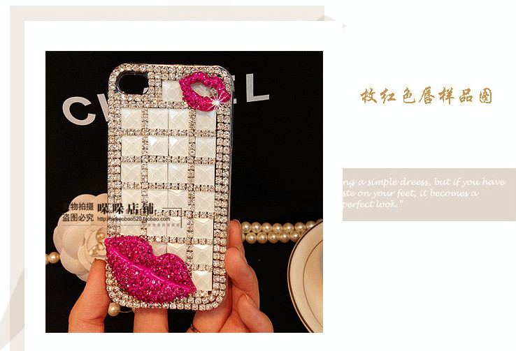 For Huawei P7 case rhinestone mobile phone cases Transparent case protective cover colorful glossy case 12