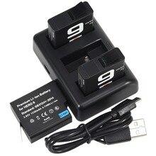 DSTE ahdbt-601three Порты USB Зарядное устройство с 3 шт. 1230 мАч Батарея для GoPro Hero 6 черный Камера Gopro Hero 6 батарея