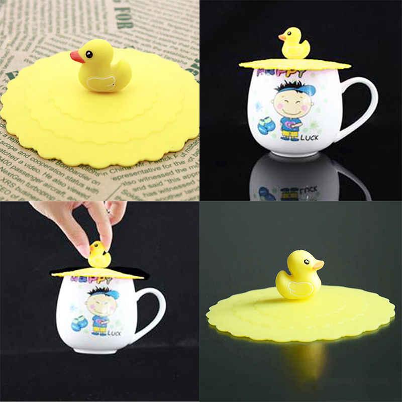 1ピースシリコン漏れ防止コーヒー吸引蓋キャップ気密密封されたカップカバー