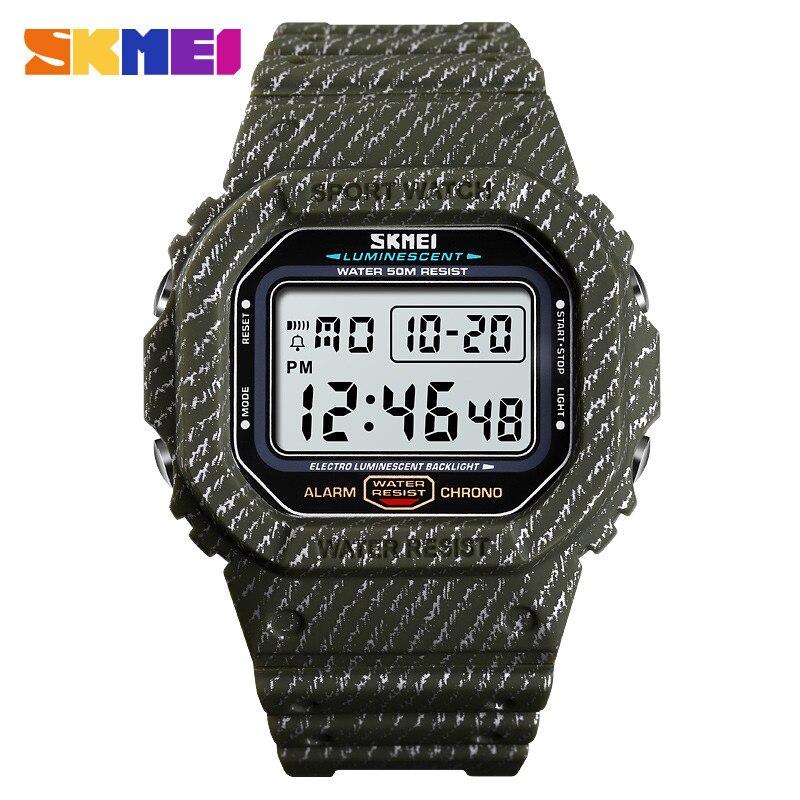 SKMEI Watches Shockproof Alarm Men Sport Digital for And 50M Luminous-Watch 1471 Man