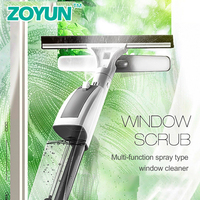 ZOYUN Glass cleaner telescopic rod double sided water spray glass scraping cleaning window tool home high rise cleaning windows
