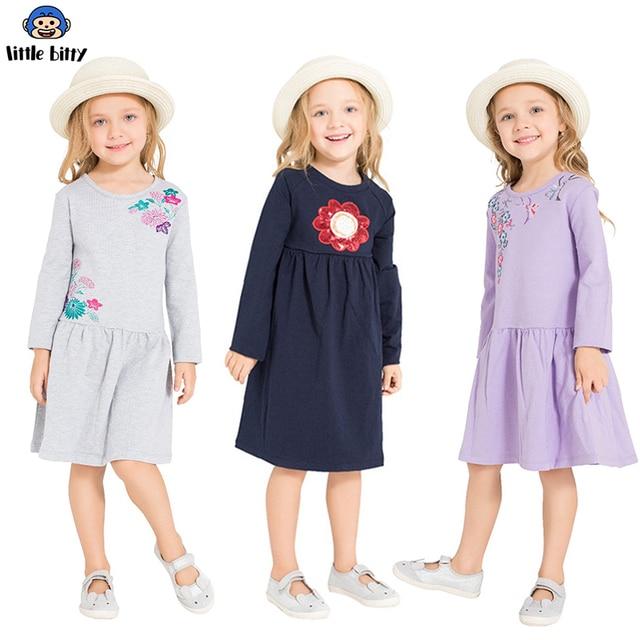 בנות שמלה ארוך שרוול 2018 מותג נסיכת שמלת בנות בגדי בעלי החיים Vestidos ילדי תחפושות לילדים שמלות