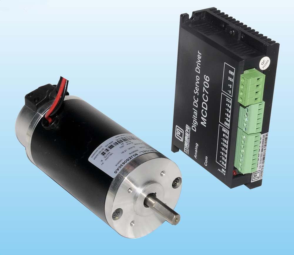 все цены на 60W 24VDC 3000rpm 0.2N.m Brushed DC Servo Motor Driver kit 1000 line D=60mm JMC 60JZS0630AS+MCDC706 онлайн