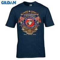 GILDAN Fashion USMC US Marine Corps T Shirt Mens Erazor Bits Military Short Sleeve O Neck