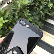 Love Heart Mirror Couple Phone Cases For iphone X 7 8 6s Plus TPU Soft Back Cover For iPhone 7 6 6s Simple Letter Coque